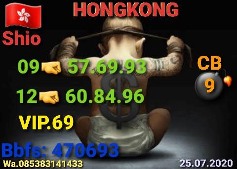 Kode syair Hongkong Sabtu 25 Juli 2020 23
