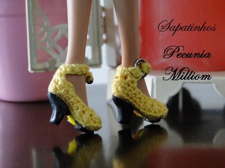 Sapatos de crochê para Barbie
