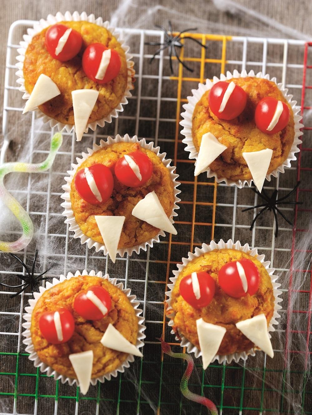 How To Make Vampire's Pumpkin Muffins