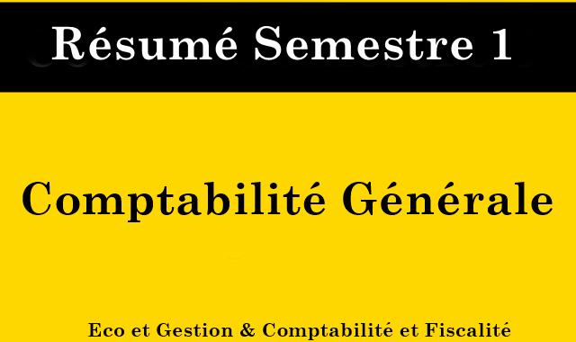 Résumé de la comptabilité générale S1