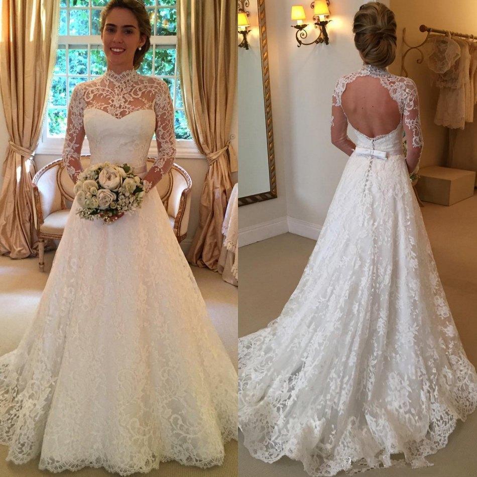 Church Summer Court Garden/Outdoor Winter Hall A-line All Sizes Wedding Dress (12688443)