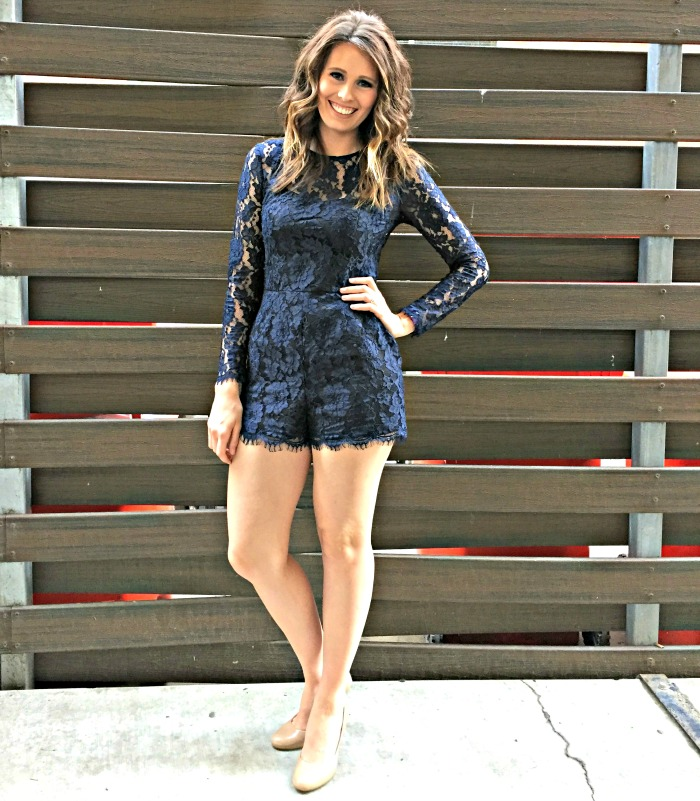 Rent the Runway -  Cynthia Rowley Midnight Lace Romper