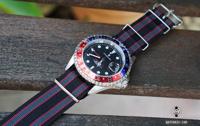 Ocean GMT Blue-Red PEPSI with Nato Strap