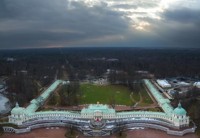 Фотография Ораниенбаум с воздуха. Парк. Квадрокоптер