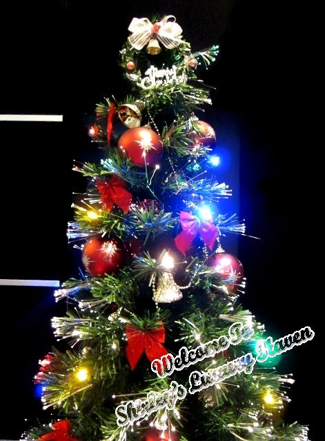 lovely christmas tree with decorations