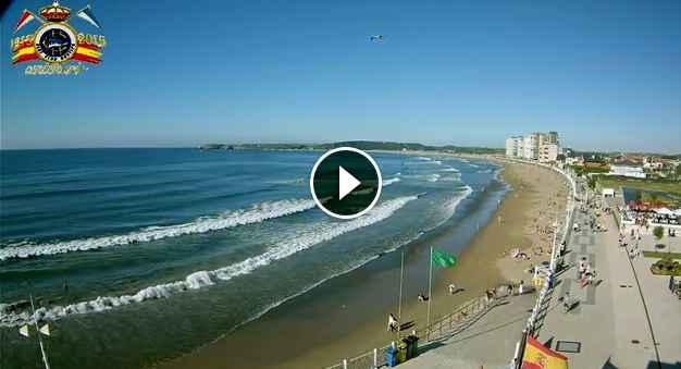 Real Club Náutico de Salinas - Playa de Salinas Asturias Spain Cam Este
