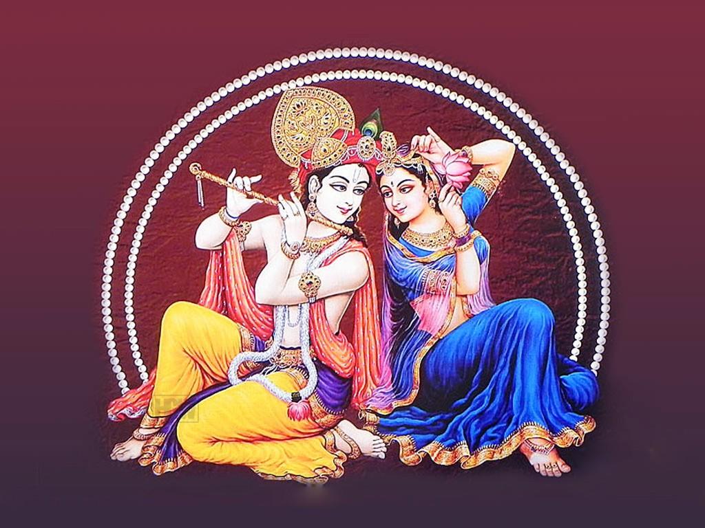 Krishna With Radha HD picture Free