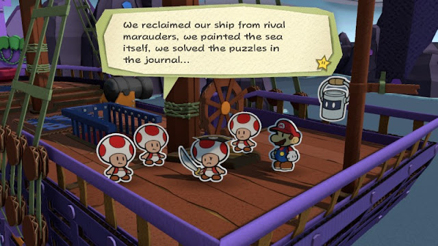 Paper Mario Color Splash purple violet chapter pirate Toads crew Fortune Island