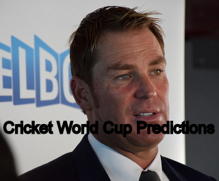 cricket world cup predictions by shane warne