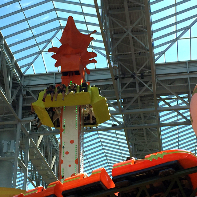 Rides upon rides at Nickelodeon Universe