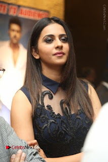 Actress Rakul Preet Singh Stills in Beautiful Blue Long Dress at Dhruva Salute to Audience Event  0008.JPG