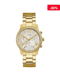 Ceas dama auriu elegant Guess Solar W1069L2