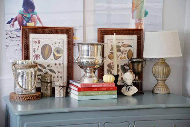 summer fall transition vignette | Rambling Renovators