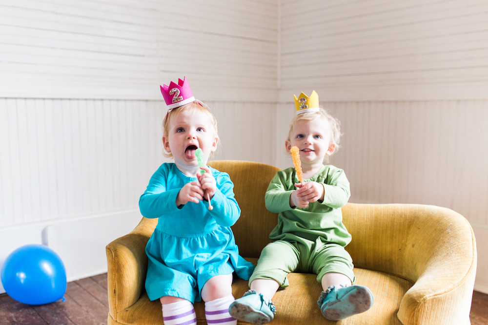 twin birthday, twin two year olds, birthday photoshoot, twin birthday party, twin toddlers, June and January, pearl snap hall, Austin photographer, Austin family photographer, parenting twins, second birthday photos, twin outfits, boy girl twins, Austin mom blog, twin birthday outfits