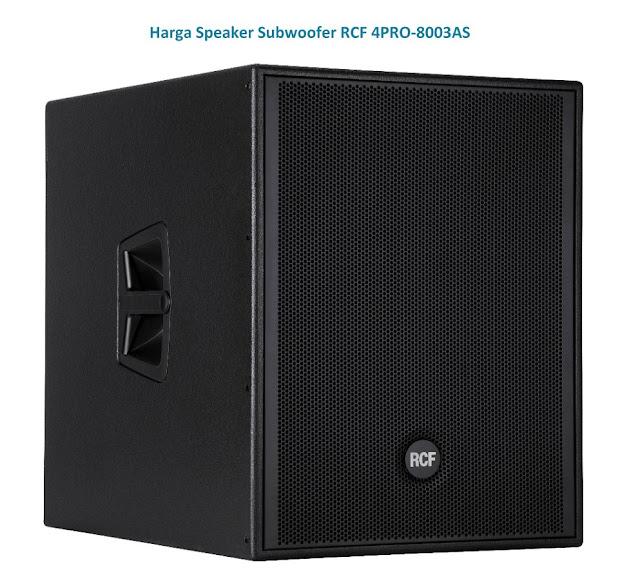 Harga Speaker Subwoofer RCF 4PRO-8003AS