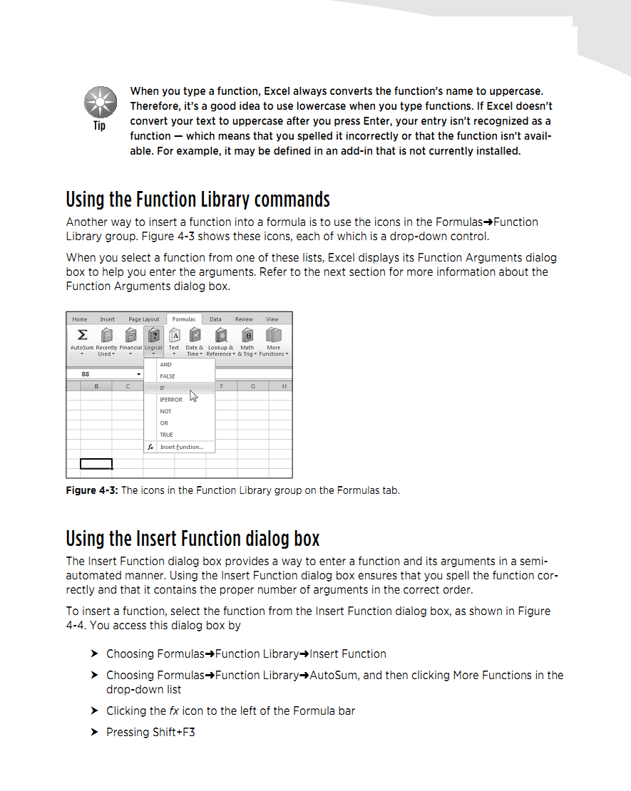 Library: way to enter formula in excel 2010