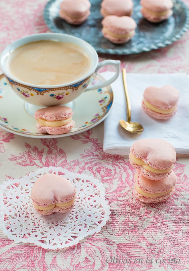 Macarons con ganache de chocolate blanco para Silikomart