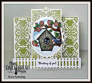 Our Daily Bread Designs Stamp Set: Birdhouse, Our Daily Bread Designs Custom Dies: Art Deco, Lavish Layers, Ornate Ovals, Fence, Our Daily Bread Designs Paper Collection:Blushing Rose