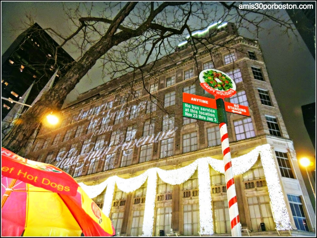 Espectaculo Luces  Fachada del Saks Fifth Avenue