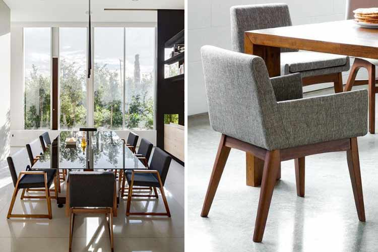 Marzua tipos de sillas de comedor para elegir la m s adecuada for Sillas comedor con reposabrazos