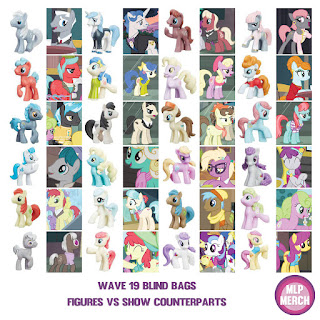 MLP Wave 16 Figures VS Show Counterparts