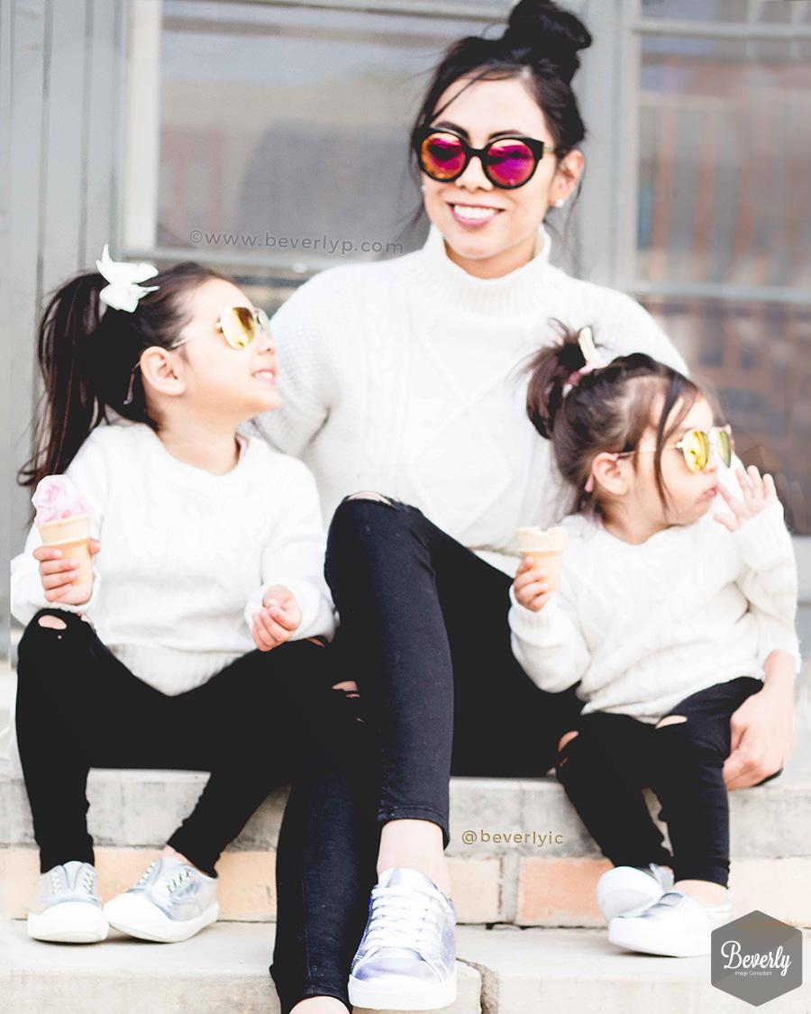 Mini Me Blanco y Negro Mama e Hijas