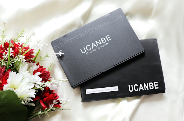 Ucanbe 15 Colours Concealer Pallete Review and Swatches | Ft. beautybigbang.com