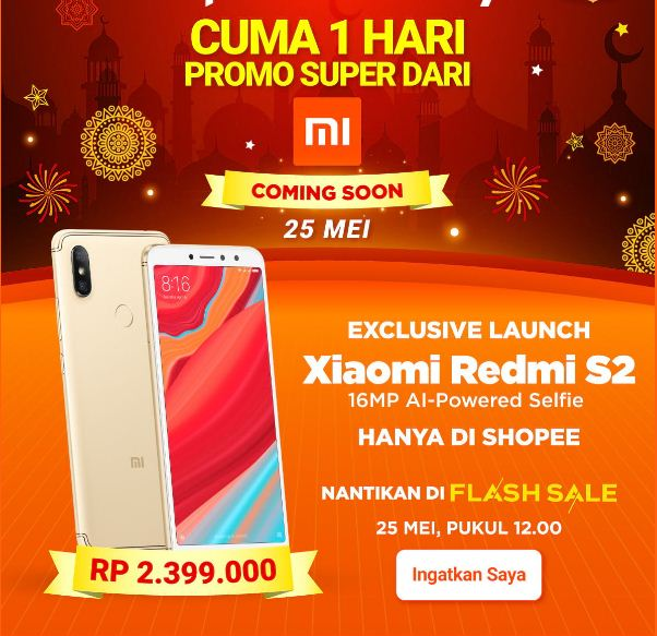 flash sale Xiaomi Redmi S2 - Shopee