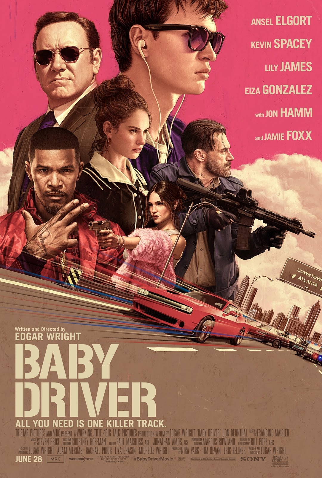 Download Baby Driver (2017) Movie 720p + 1080p BluRay x264 + x265