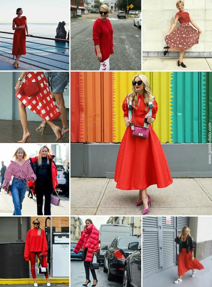 Vermelho cor do inverno 2017