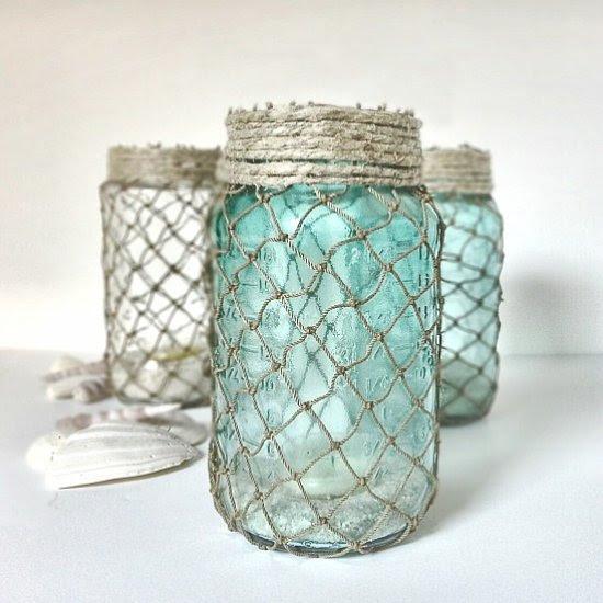 Nautical Netted Jars