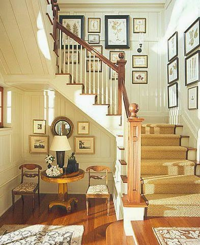 50 Creative Staircase Wall decorating ideas, art frames ...