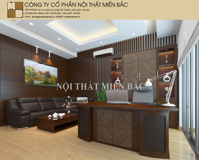 Thiết kế nội thất phòng giám đốc hiện đại