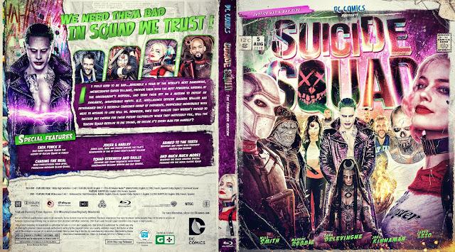 Suicide Squad Bluray Cover