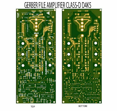 Gerber File class-d power amplifier d4k5