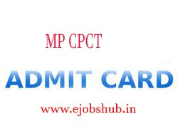 MP CPCT Admit Card