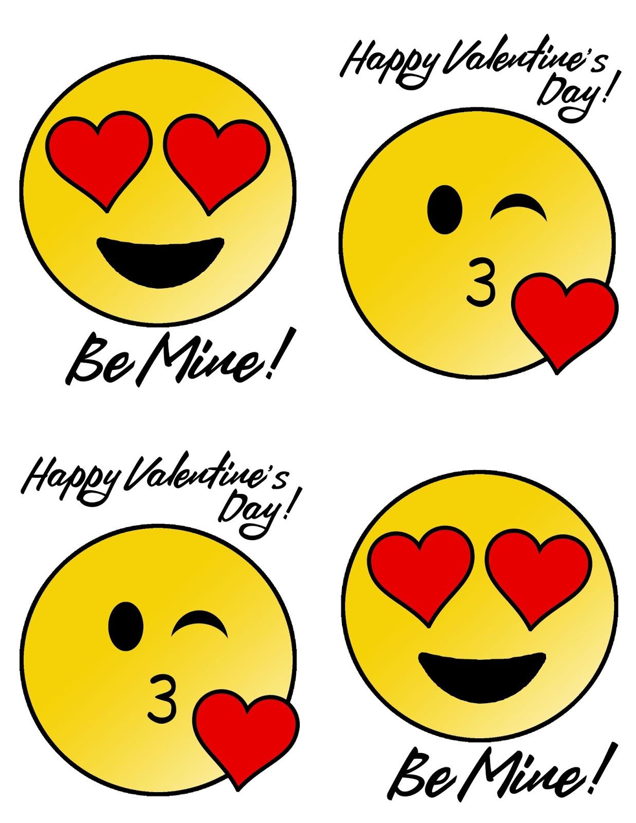 Doodlecraft Emoji Valentine S With Free Printable