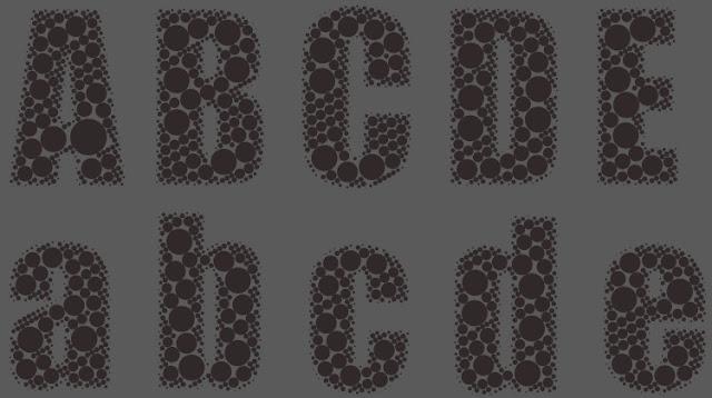 Gratis Halftone Vektor CorelDraw Text Effect