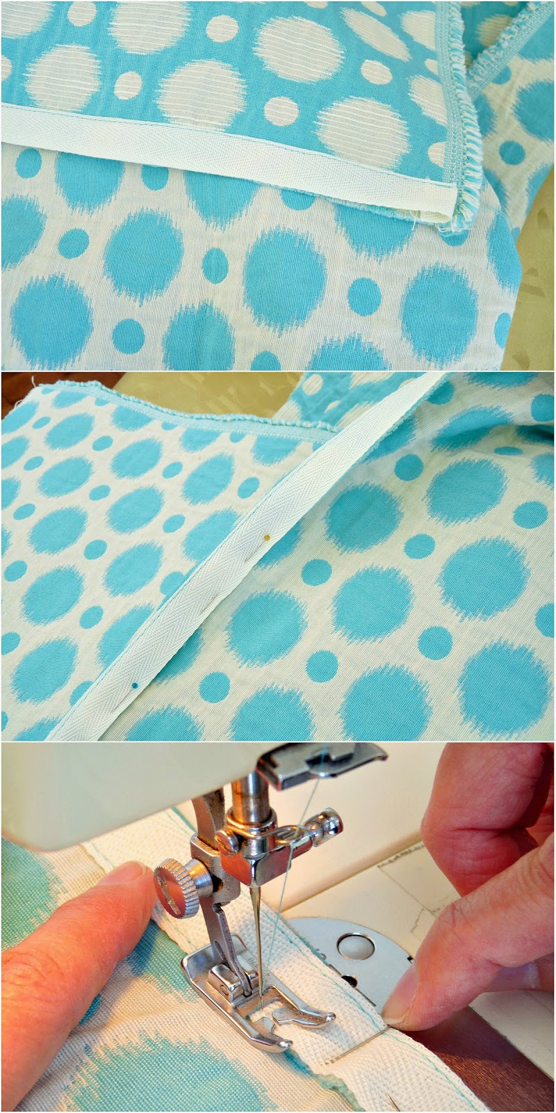 How to sew a hem with twill tape