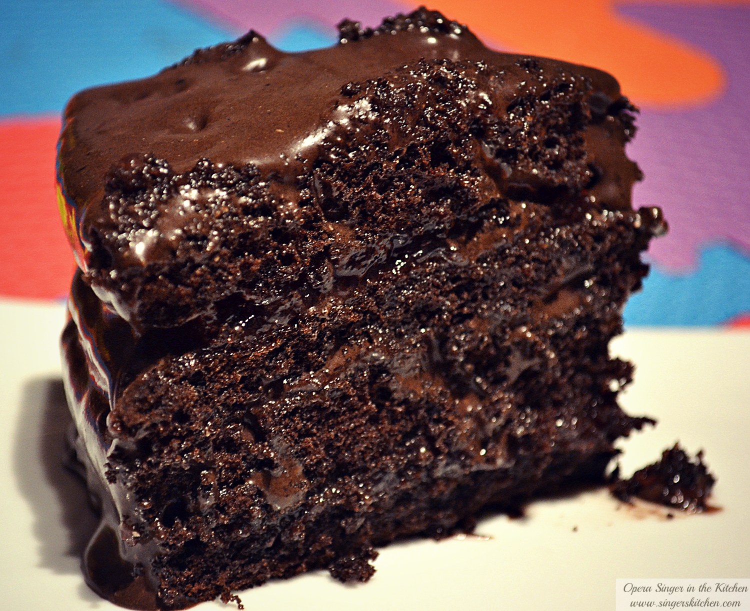 Super Moist Chocolate Cake With Cream Filling