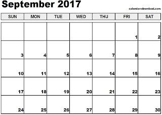 Free Printable Calendar September