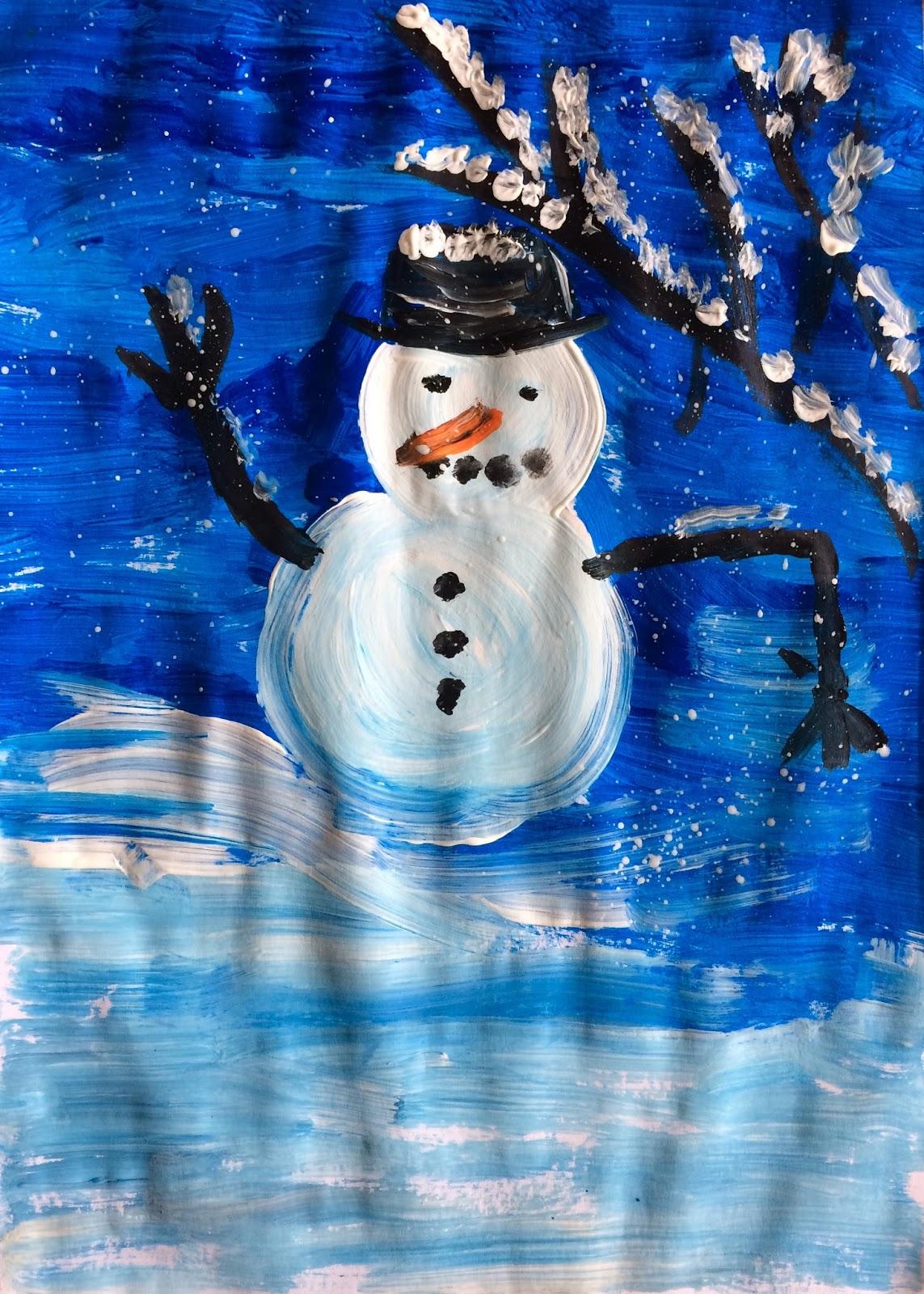 Omul de zăpadă din ger