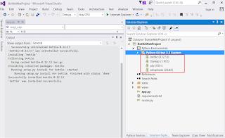 Python for Visual Studio - No Module Named 'Bottle'