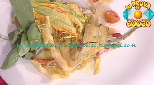 Prova del cuoco - Ingredienti e procedimento della ricetta Crostata di pasta brisèe con mozzarella verdure e alici di Marco Bottega