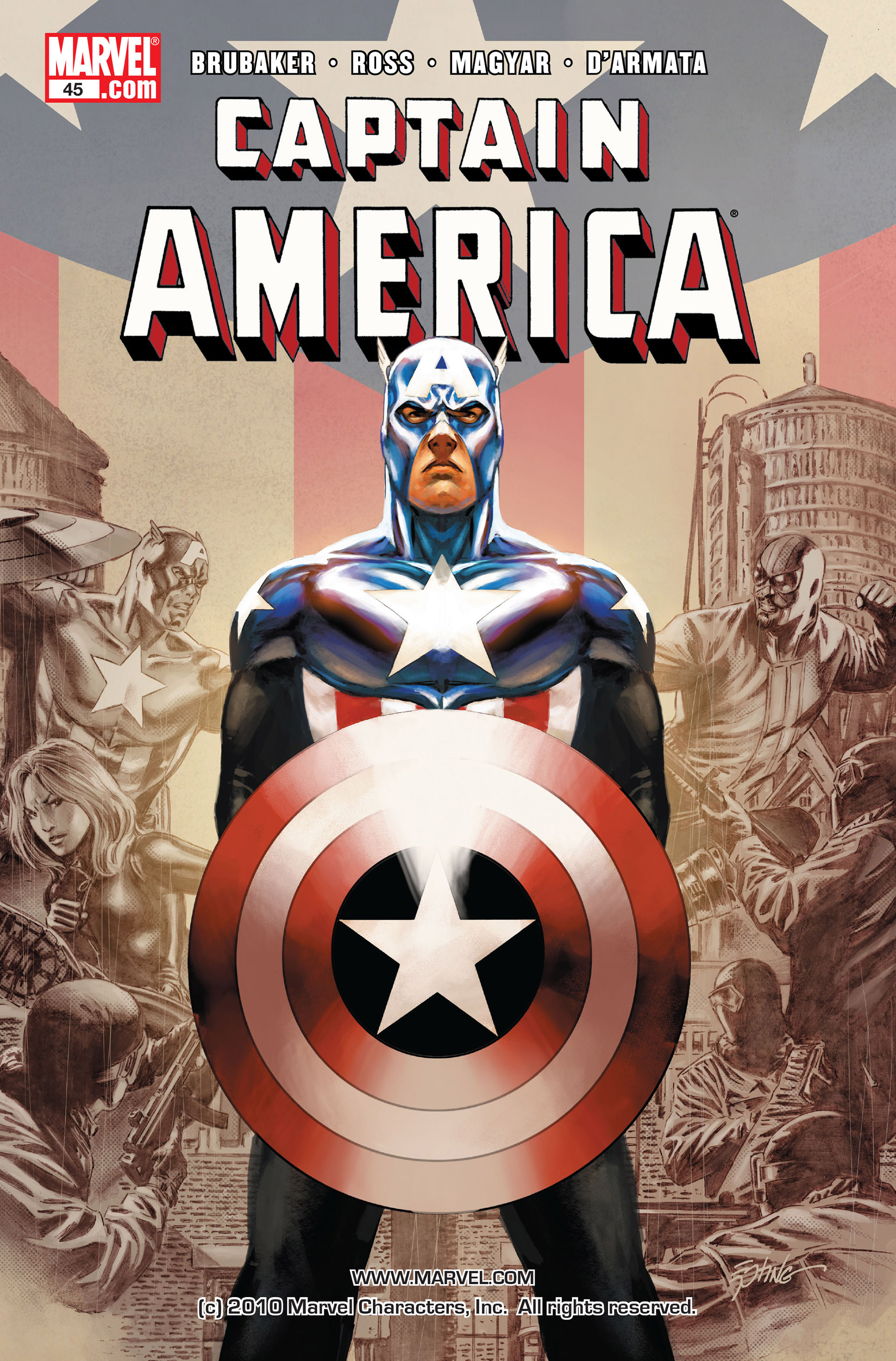 Read online Captain America (2005) comic -  Issue #45 - 1