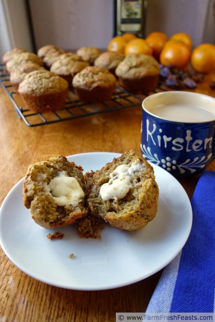 Orange Date Olive Oil Muffins | Farm Fresh Feasts