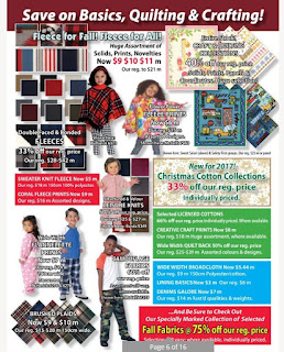 Fabricland Ontario Flyer October 02 - October 31, 2017