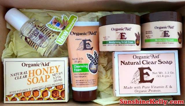 Organic Aid Skincare Review, Organic Aid Skincare, Organic Aid, Organic Aid Natural Clear Soap, Organic Aid Natural Clear Honey Soap, Organic Aid Vitamin E Cleansing Foam, Organic Aid Moisturizing Scrub Cream, Organic Aid Vitamin E Moisturizing Cream, Organic Aid Vitamin E Oil, organic skincare review, organic skincare, organic product, skincare, beauty