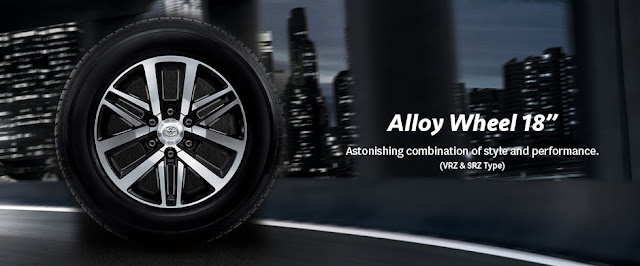 Velg Alloy New Fortuner