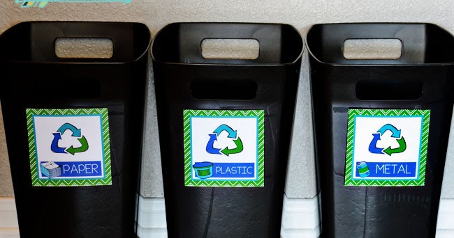 image relating to Recycle Labels Printable referred to as Absolutely free Printable Recycling Bin Labels i must be mopping
